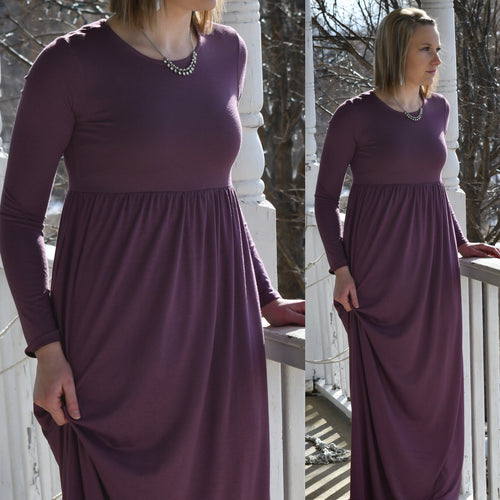 Pleated Waist Maxi Dress