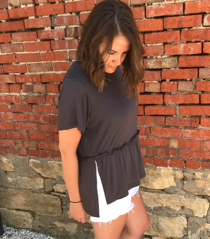 Peplum Knit Top
