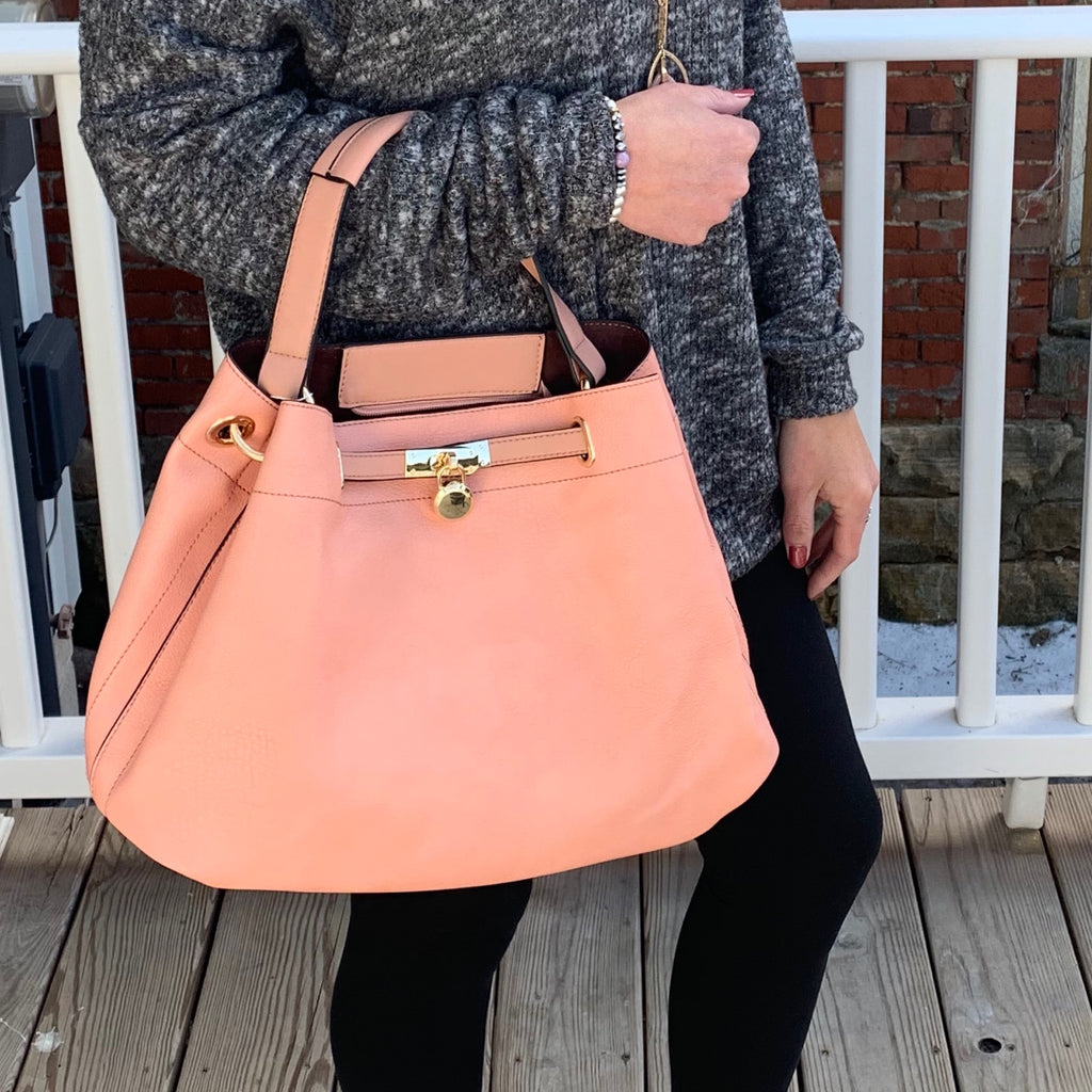 Blush Smooth Textured Bag