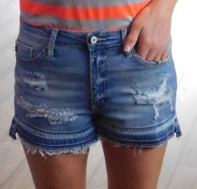 Kan Can Distressed Shorts