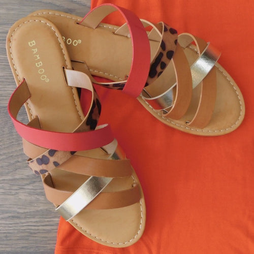 Bamboo Multi Colored Sandals