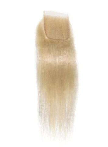 Blonde Silky Straight 4x4 Lace Closure