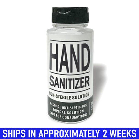 Hand Sanitizer- Distillery Based 6oz
