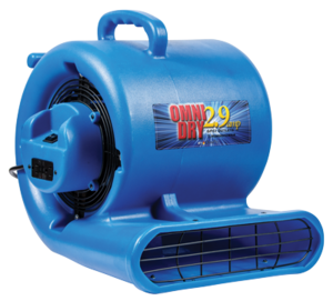 OmniDry 2-Speed Air-Mover/Blower, Blue (2.9 Amp, 1/3 HP) AC25A