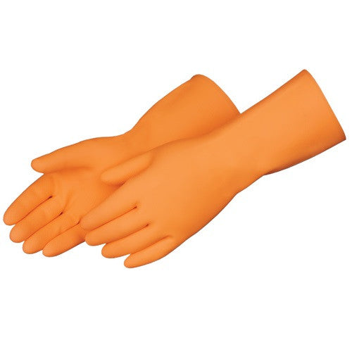 Orange FlockLined Gloves XL