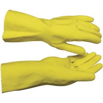 Yellow FlockLined Gloves Large