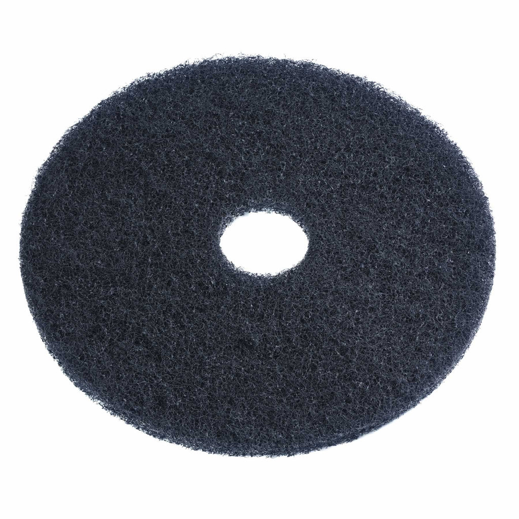 19 Black Stripping Floor Pad