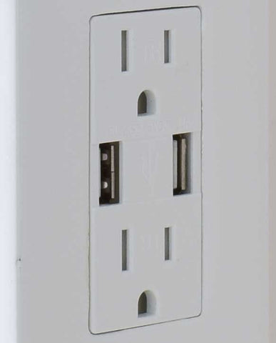 Dual USB and Standard Outlets