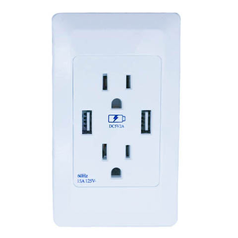 Dual USB and Dual Outlets