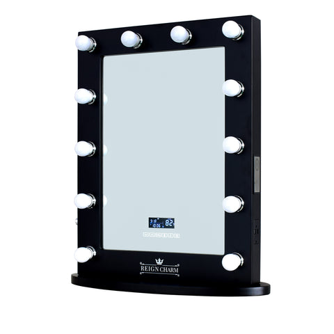 "Rockstar Hollywood Vanity Mirror with Bluetooth Audio-Enabled Speakers. 22""W x 29""H"