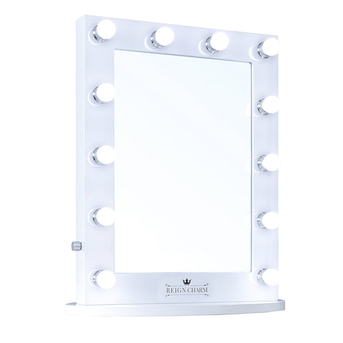 "MovieStar Hollywood Vanity Mirror, 12 LED Lights, Dual Outlets, 22""W x 29""H"