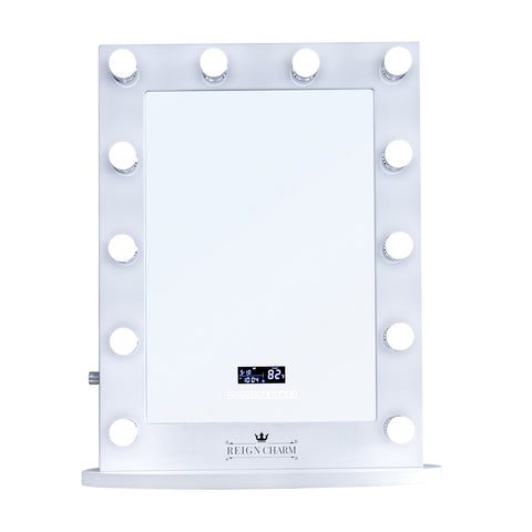 "Rockstar Hollywood Vanity Mirror with Bluetooth Audio-Enabled Speakers, 22""W x 29""H"