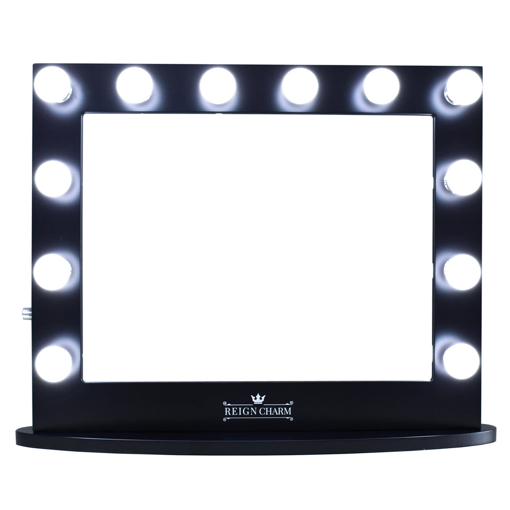 ReignCharm Hollywood vanity mirror for makeup cosmetics beauty in Hollywood style with bluetooth for vanity girl and illuminated light bulbs for glam make up