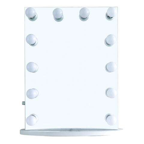 "12-LED Bulbs Diamond Cut Hollywood Vanity Mirror, 22""W x 29""H"