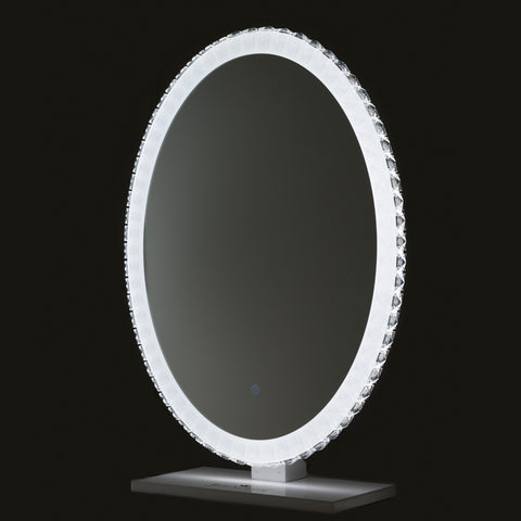 "Crystal Hollywood Vanity Mirror with bright LED Lights, 22""W x 29""H"