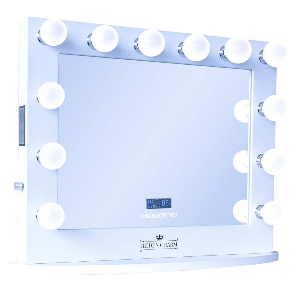 Sophia with Color Changing LED Light Bulbs & Speakers w/Display, White