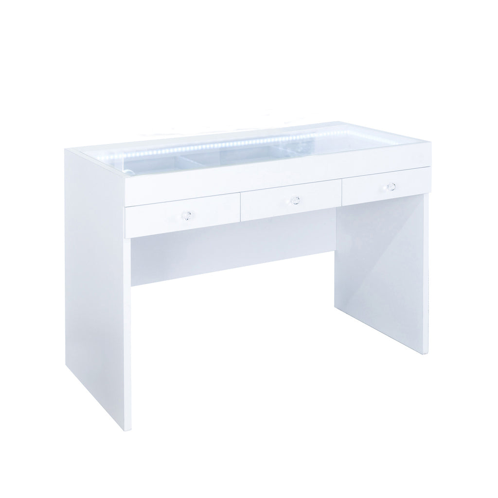 FIAT LUX LIGHTED 3-DRAWER VANITY TABLE