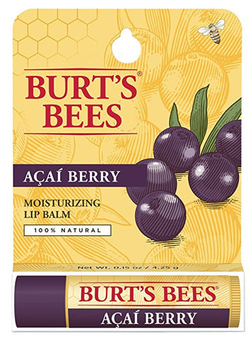 Burt's Bees 100% Natural Moisturizing Lip Balm, Acai Berry, 1 Tube in Blister Box