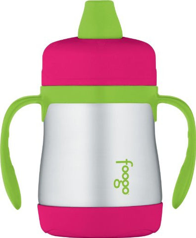 Thermos Foogo Vacuum Insulated Stainless Steel Soft Spout Sippy Cup with Handles