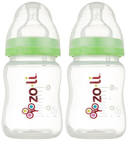 Zoli Baby Baby Bottle with Anti Colic Nipples - 5 oz - 2 ct