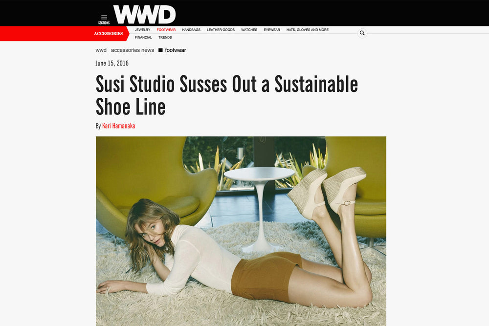 WWD: SUSI Studio Susses Out a Sustainable Shoe Line