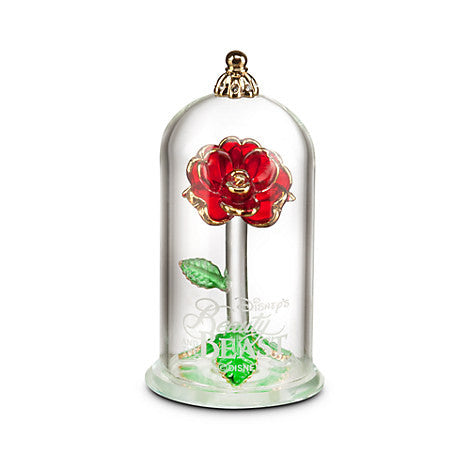 Beauty and the Beast Enchanted Rose Glass  - Small  미녀와야수 유리장미 피규어