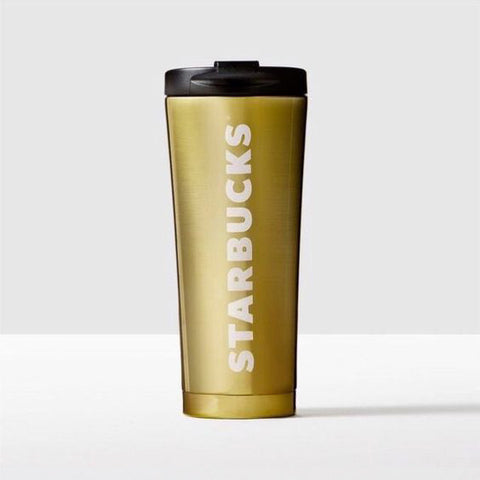 Starbucks Coffee Stainless Steel Tumbler - Mirror Gold Cup, 16 oz