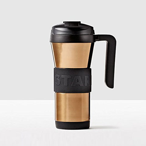 Starbucks Stainless Steel Grip Tumbler with Handle Copper Black, 16 oz