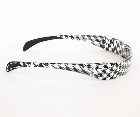 Houndstooth - B/W - Clear Crystals