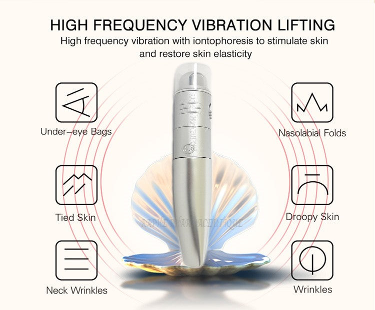 6 Anti-wrinkle Mini Ionic Device with High Frequency De-Wrinkling Vibration Applicator