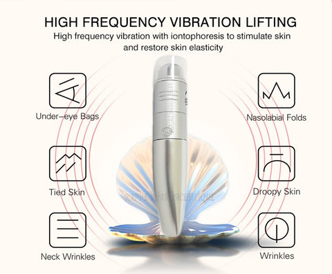 Anti-wrinkle Mini Ionic Device with High Frequency De-Wrinkling Vibration Applicator.