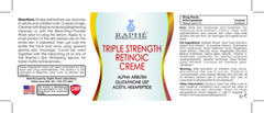 Acne Prone Skin Solution With Visible Difference Retinoic Acid Creme 9.5lbs