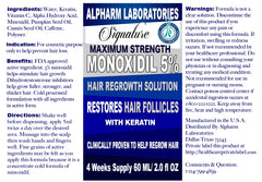 Therapeutic Minoxidil Hair Solution With Keratin 60ml - 3 bottles Signature Product