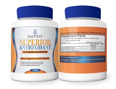 Uterine Support Antioxidant Capsules Aronia-Maqui  2000mg/Serving