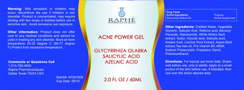 Acne Gel-Glycyrrhiza Glabra-Sal 40% & Retinol Medium 60ml 24 bottles