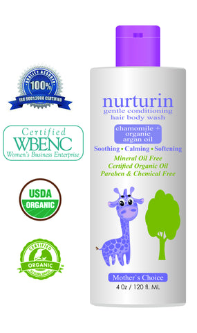 Extra-Mild Nurturin Gentle Conditioning Lotion & Wash 2 in 1 Creme For Baby Sensitive Skin 4oz - 6 Bottles