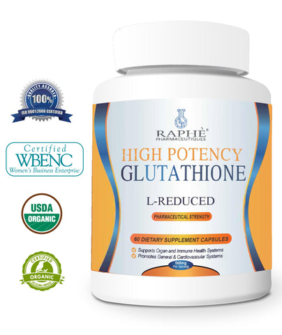 Pharmaceutical Strength Reduced L-Glutathione 500mg & 60 Caps