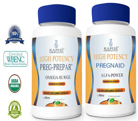 Alfa Power Pregnaid Plus PregPrepar` Reproductive Health Supplement 90Caps per Bottle