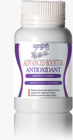 Advanced Booster Once a Day Anti-aging AntiOxidant With Quercetin-NAC-Vitamin C 1000mg - 6pcs