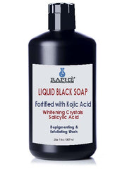 Black Liquid Body Wash With Kojic Acid and Salicylic Acid Concentrate 4 Bottles