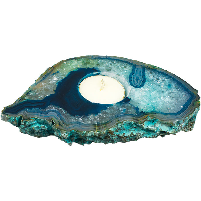 Agate Slab Candle Holder - Love & Light Jewels