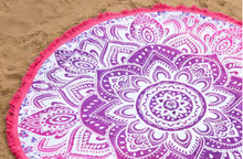 Pink Shoora Mandala Tapestry (Roundie) - Love & Light Jewels