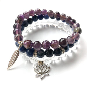 Divine Goddess Third Eye Chakra Bracelet Stack - Love & Light Jewels