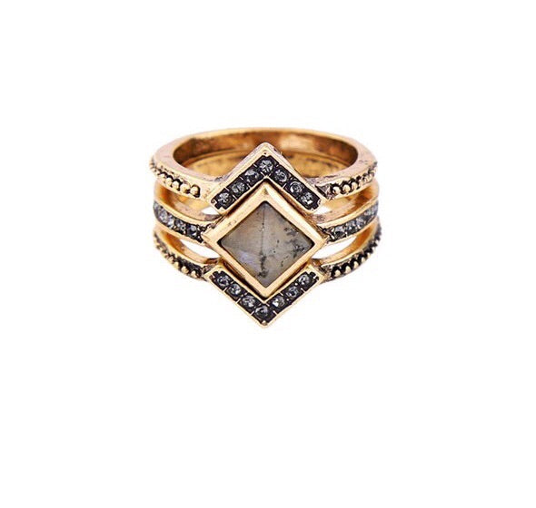 Ancient Aura Ring Set - Love & Light Jewels