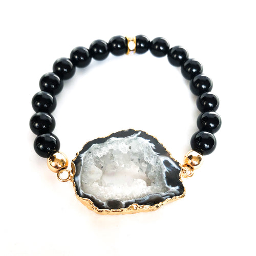 Agate Geode Beaded Bracelet - Love & Light Jewels
