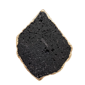Lava Stone Phone Grip with Gold Trim