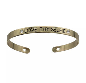 Wear Your Words Mantra Bangle - Love & Light Jewels