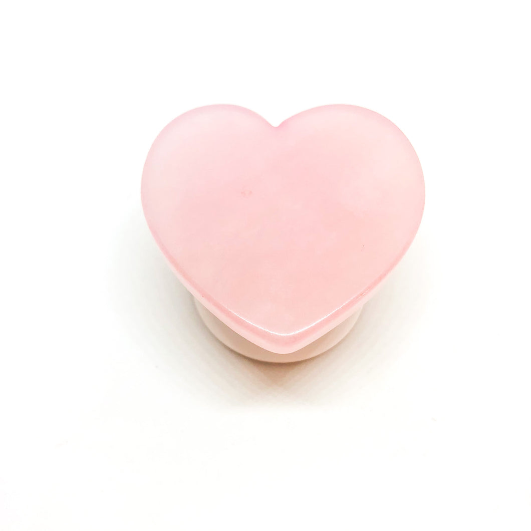 Rose Quartz Heart Phone Grip - Love & Light Jewels