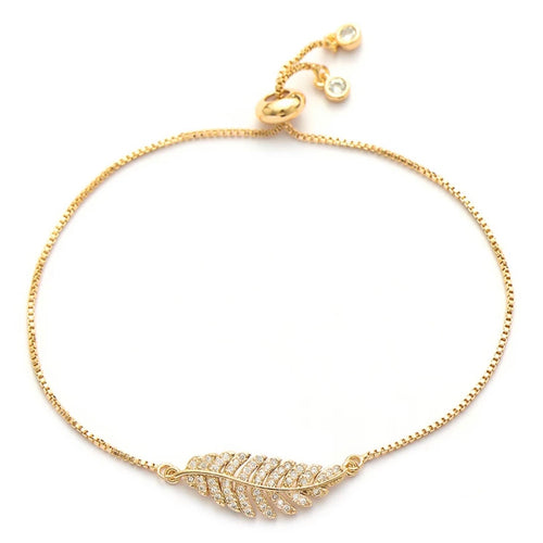 Leaf Adjustable Bracelet - Love & Light Jewels