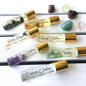 Crystal Infused 7 Chakra Oil Set - Love & Light Jewels
